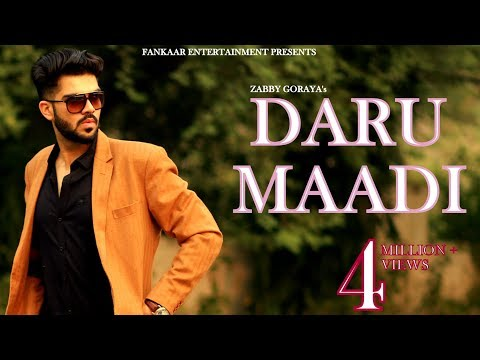 Daru Maadi | Zabby Goraya | New Punjabi Songs 2018 | Latest Punjabi Songs 2018 | New songs