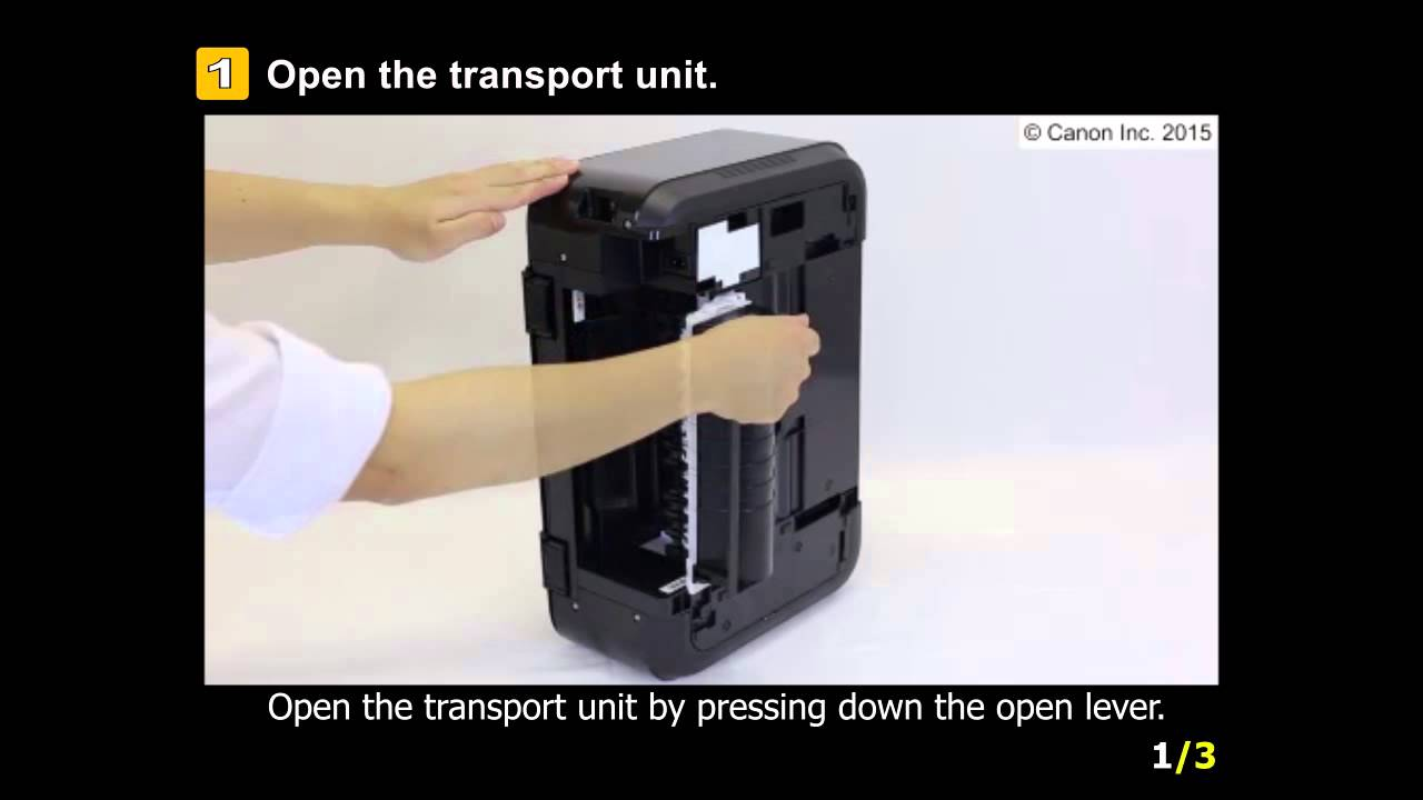 Pixma Mg3620 Removing A Jammed Paper From The Transport Unit Wiring Diagram Cannon Mx459 Fax Youtube