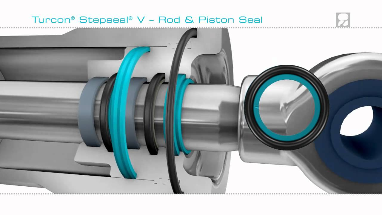 Stepseal 174 V Prevents Pressure Trap In Hydraulic Cylinders