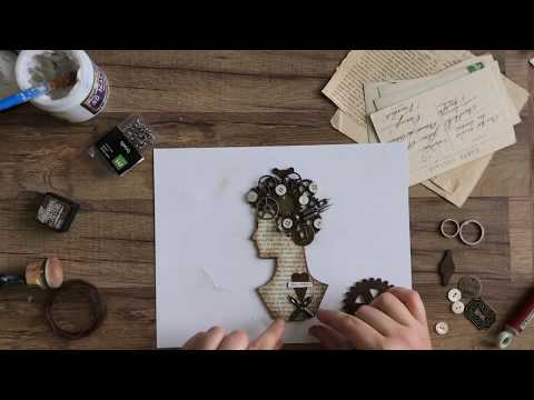Steampunk Assemblage Woman Project Tutorial by Stampington & Company