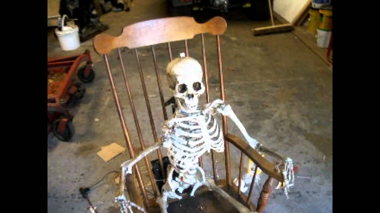 how to make a rocking chair reupholster kitchen chairs skeleton - youtube