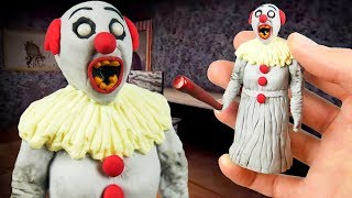 Making PENNYWISE GRANNY in POLYMER CLAY!👵+🤡=?