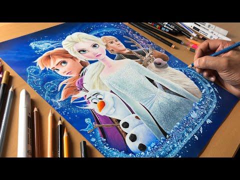 Frozen 2 Artwork - Timelapse | Artology