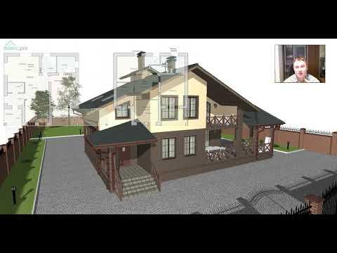 Проект мансардного дома типа шале «Туапсе»  C-437-ТП