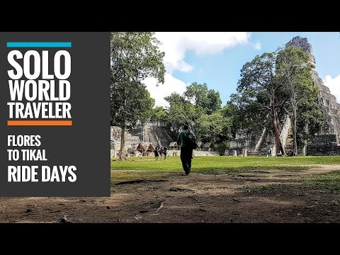 Ride Day 26: Flores to Tikal Ancient City, Guatemala