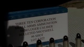 ATTENTION MILITIA AND PREPPERS .....BULLETED SHOTSHELL FOR 9MM! Must see!