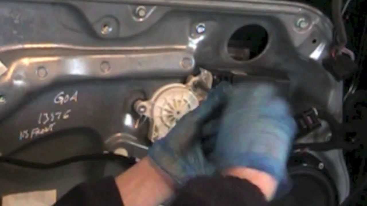 Power Door Lock Actuator Wiring Diagram Vw Golf Mk4 Window Regulator Replacement Youtube