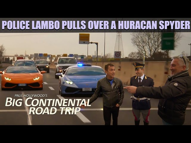 Paul Hollywood & Bruno Tonioli in a Huracan Spyder in Rome   Big Continental Road Trip