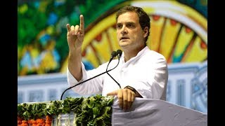 Congress President Rahul Gandhi addresses the Sanjhi Virasat Bachao Sammelan at Talkatora Stadium