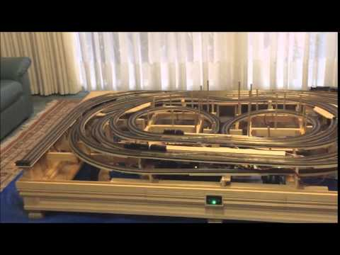 N Scale Coffee Table Train Layout Pt. 1 - YouTube