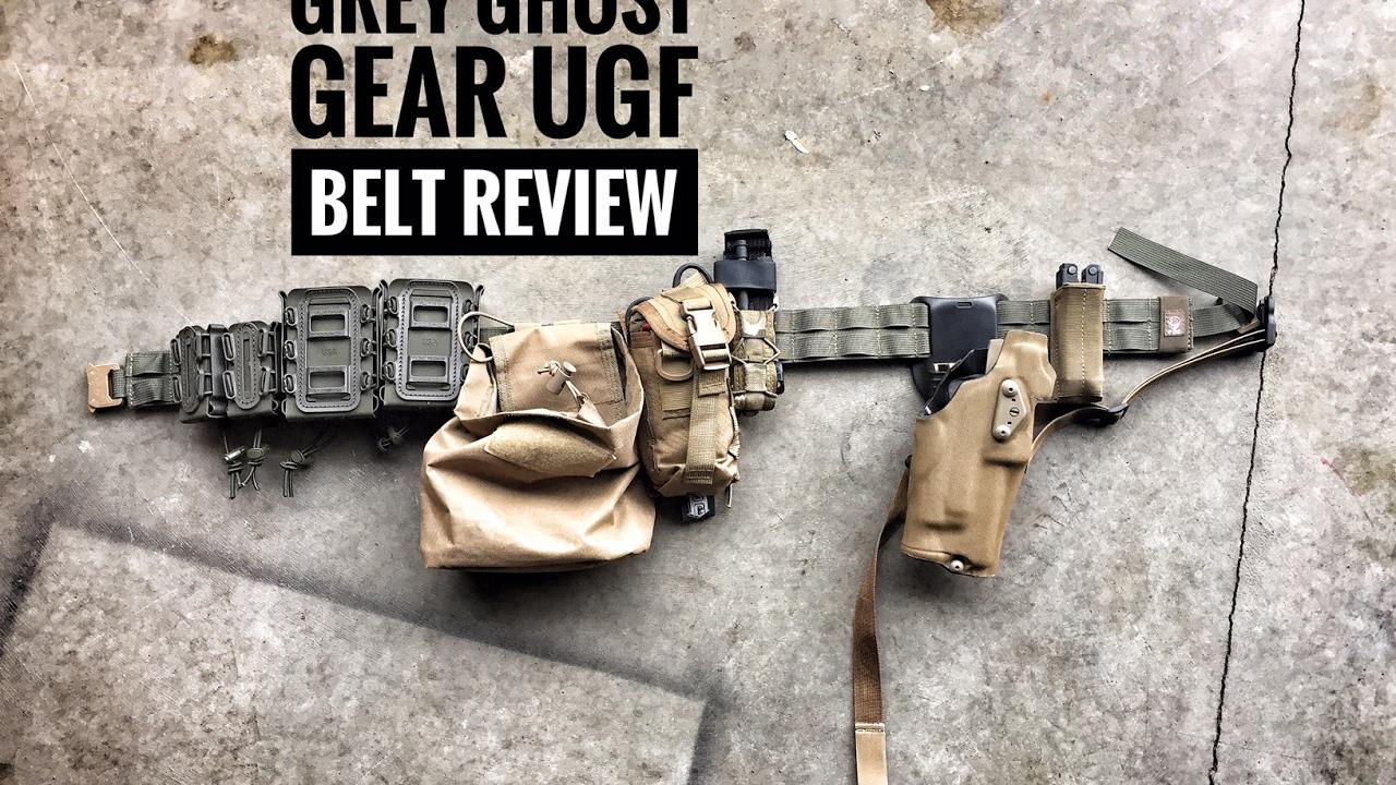 "Grey Ghost Gear 7013-2 UGF Battle Mens L 40-42/"" Black Padded Tactical Belt"