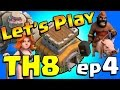 Clash of Clans: Let's Play TH8! ep4 - Golems Here We Come!