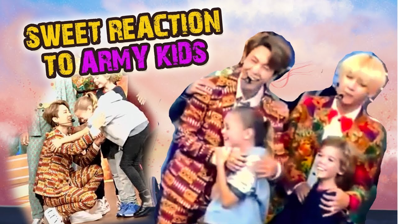 BTS reaction to ARMY KIDS is too sweet on GMA - Good Morning America  (especially Jiminie)