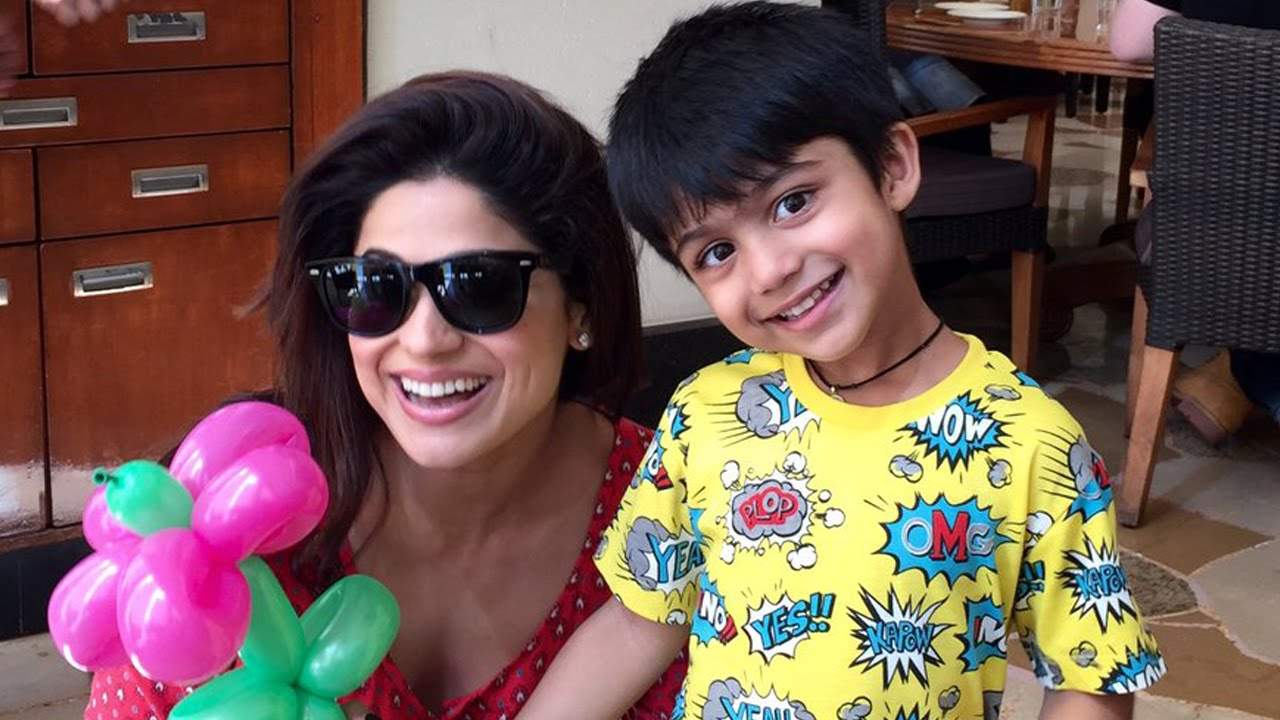 Image result for shilpa shetty with son