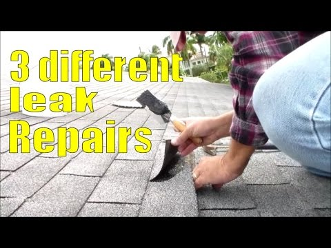 Repair Leaking Roof In Asphalt Shingles Protruding Nails