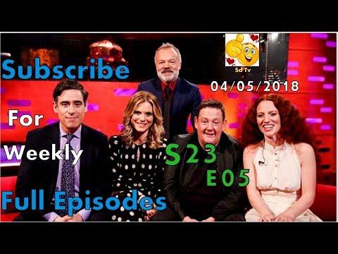 Full Graham Norton Show S23E05 Stephen Mangan, Johnny Vegas, Emilia Fox May 4, 2018