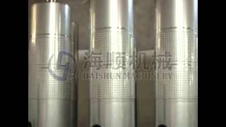 Jacketed Wine Making Kits Storage Stainless Steel Tank For Sale