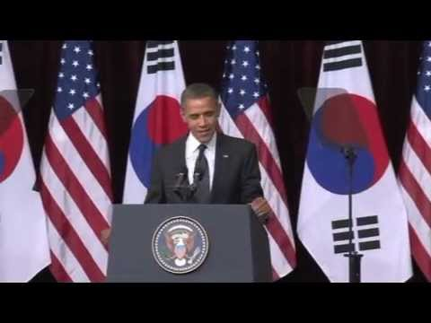 Video of the U.S President Barack Obama's...