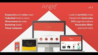 Angle Flat Wordpress Theme Review & Demo | Responsive Bootstrap MultiPurpose Theme | Angle Flat Price & How to Install
