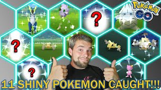 11 SHINY POKEMON CAUGHT! (Pokemon GO Genesect Event)