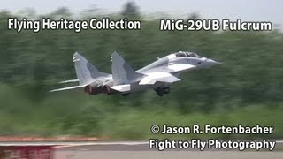 MiG-29 Fulcrum Afterburner Takeoff - Flying Heritage Collection