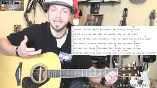 ★Rudolph the Red Nose Reindeer Jack Johnson + Chords/Tabs | Guitar Tutorial Lesson How to play