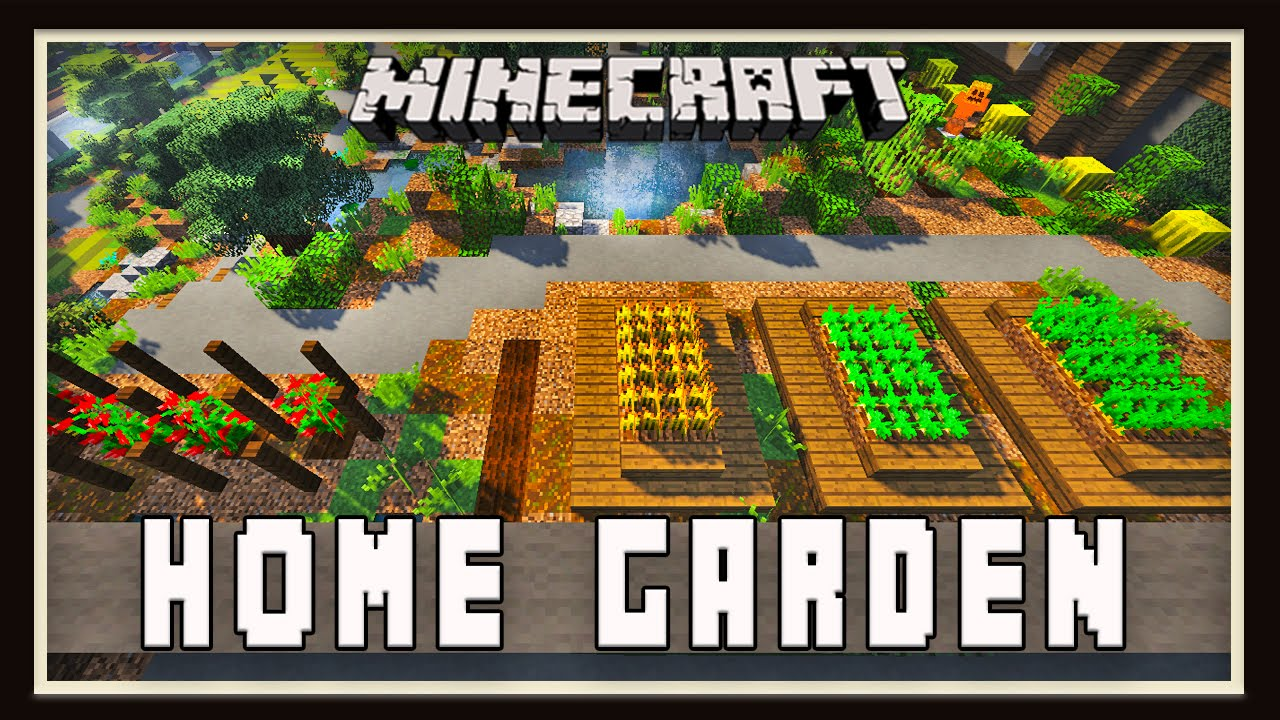 Garden Design Minecraft minecraft: backyard home garden design (modern house tutorial ep