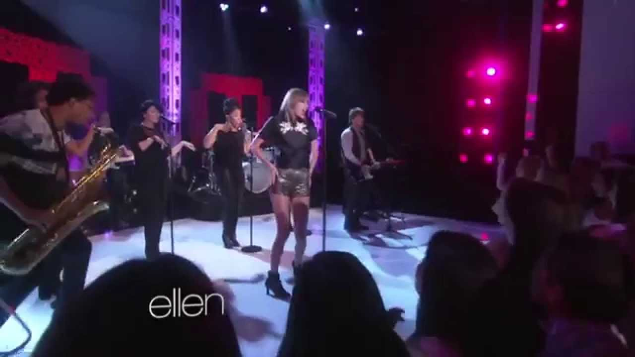 Taylor swift shake it off live at ellen oct 27 2014 youtube - Ellen show live ...