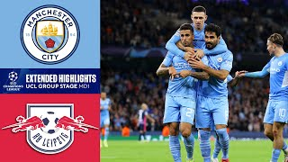Man. City vs. RB Leipzig: Extended Highlights   UCL Group Stage MD 1   CBS Sports Golazo