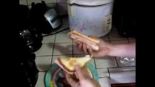 Bachelor Lunch: Grilled Cheese Sandwich W Ham