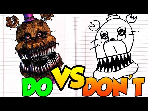 DOs & DON'Ts Drawing Five Nights At Freddy's Nightmare Fredbear In 1 Minute CHALLENGE! thumbnail