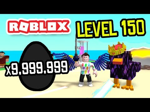 LEVEL 150 BLACK EGGS In ROBLOX EGG FARM SIMULATOR