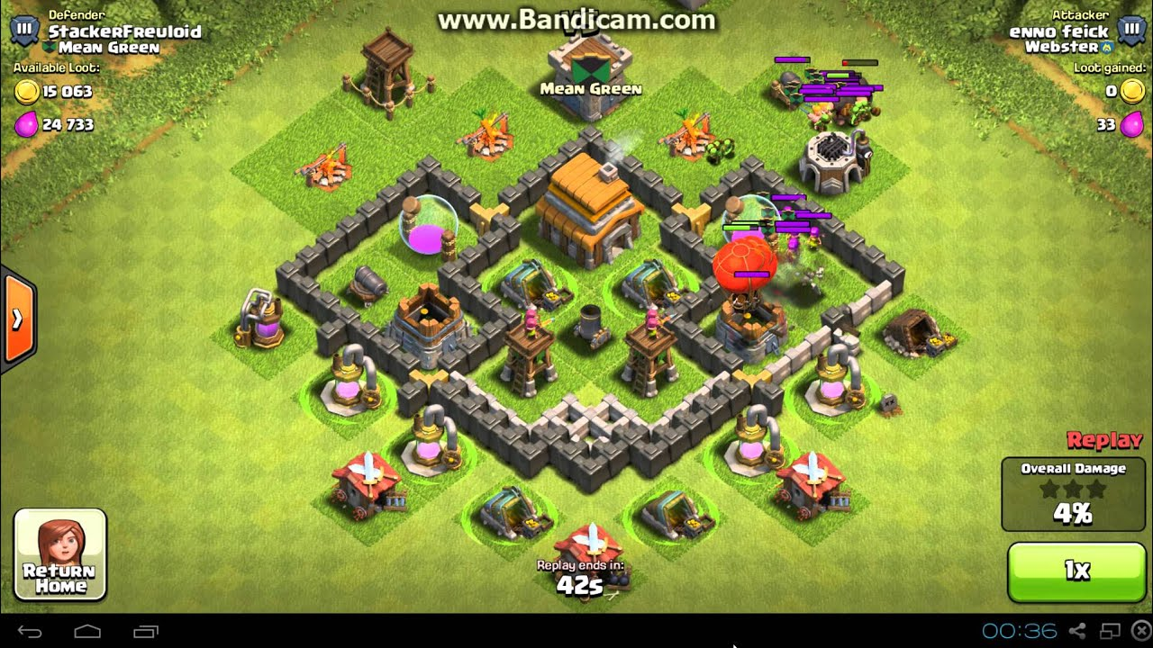 Clash of clans th5 defense youtube