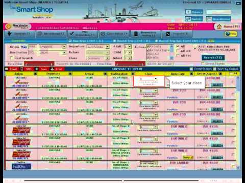 Book Air Ticket using The SmartShop Application | Air Ticket Booking Software