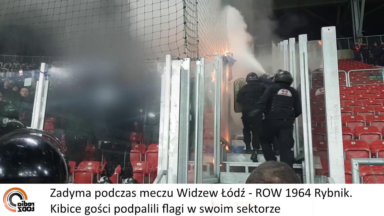 d44f6f0733eea2 Widzew Łódź - ROW Rybnik - kibice rybniccy palą flagi - YouTube
