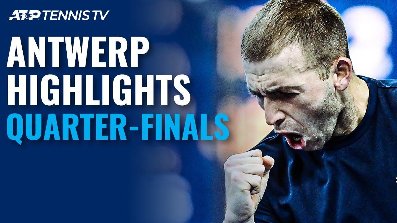 Evans & Khachanov Wild Battle; De Minaur Cruises   Antwerp 2020 Quarter-Final Highlights
