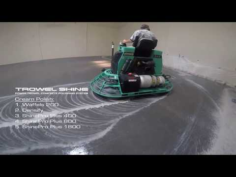 Concrete Polishing With Superabrasive Trowel Shine