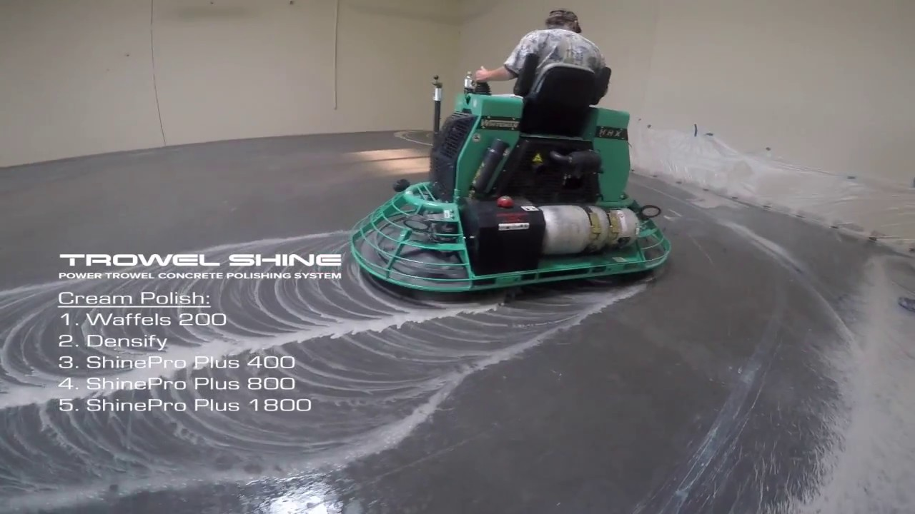 Concrete Polishing With Superabrasive Trowel Shine Youtube