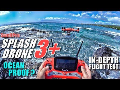 SwellPro Waterproof SPLASH DRONE 3+ Plus Review - Part 2 - Flight & CRASH Test! - Ocean Proof?