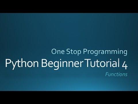 Python Beginner Tutorial 4 (For Absolute Beginners)
