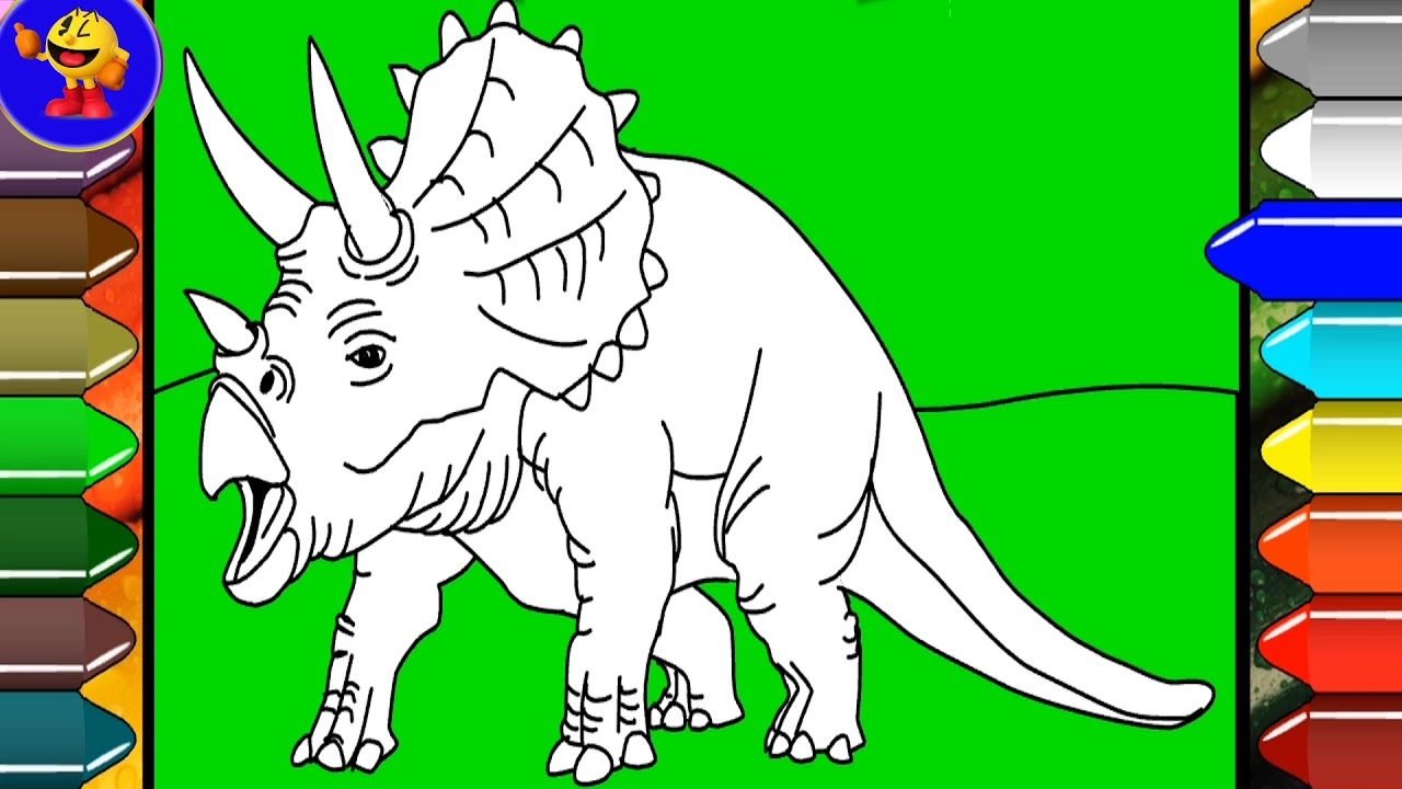 Drawing and Coloring Spinosaurus Coloring Pages for Kids to learn ...