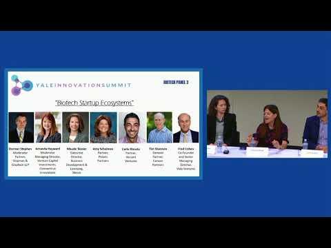 Biotech Startup Ecosystems (Biotech Panel 3, YIS 2018)