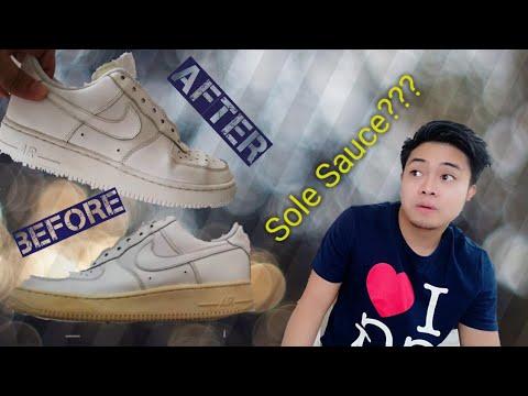 How To Unyellow White Shoes | Ukay Ukay Shoe Restoration | Vlog_1 | Fredperry & Airforce 1