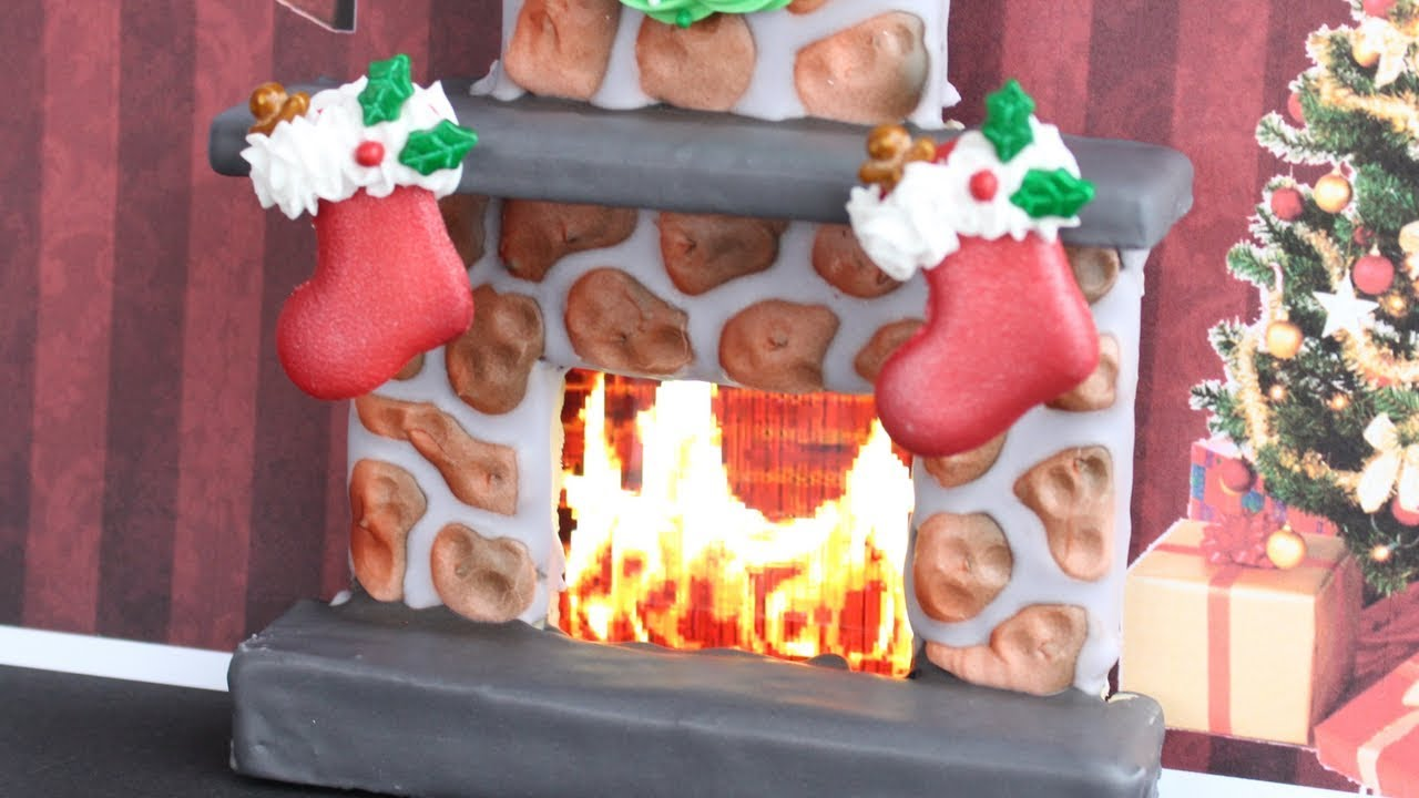 Yule Log Cookies How To Make A 3d Christmas Fireplace Cookie With Fire Stockings