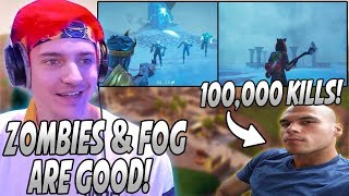 Ninja Explains Why Zombies & Fog Are GOOD For Fortnite! HighDistortion Hits 100,000 Eliminations!