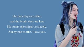 Billie Eilish - Sunny (cover) [Full HD] lyrics