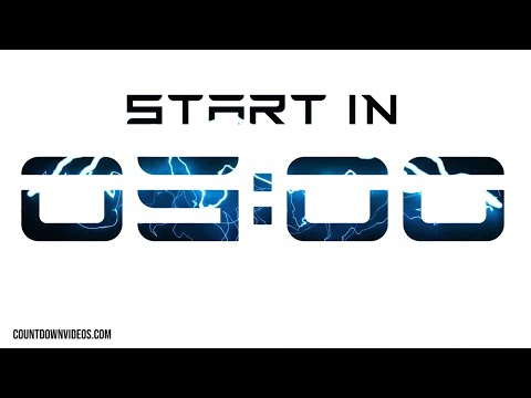 Electric Start Soon Countdown [Tesla Font] Live Stream Intro With Music