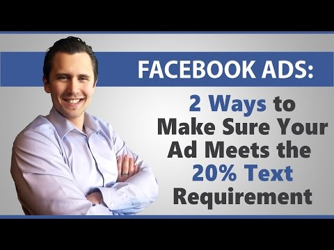 Facebook Ads: 2 Ways to Make Sure Your Ad Image Meets the 20% Text Requirements
