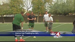Darron Lee training for NFL