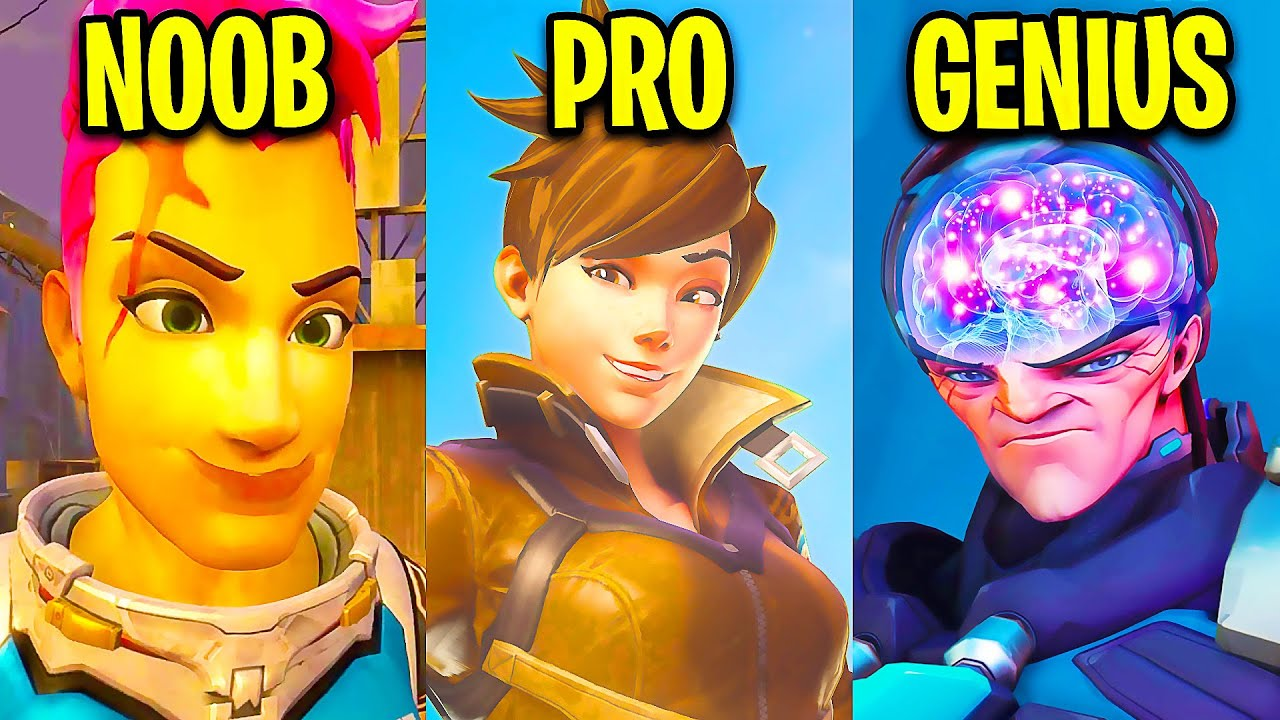 Noob VS Pro VS Genius Players! - Overwatch